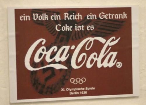 Ein Volk, ein Reich, ein Getrank - Coca Cola advert from 1936 olimpics ;-D